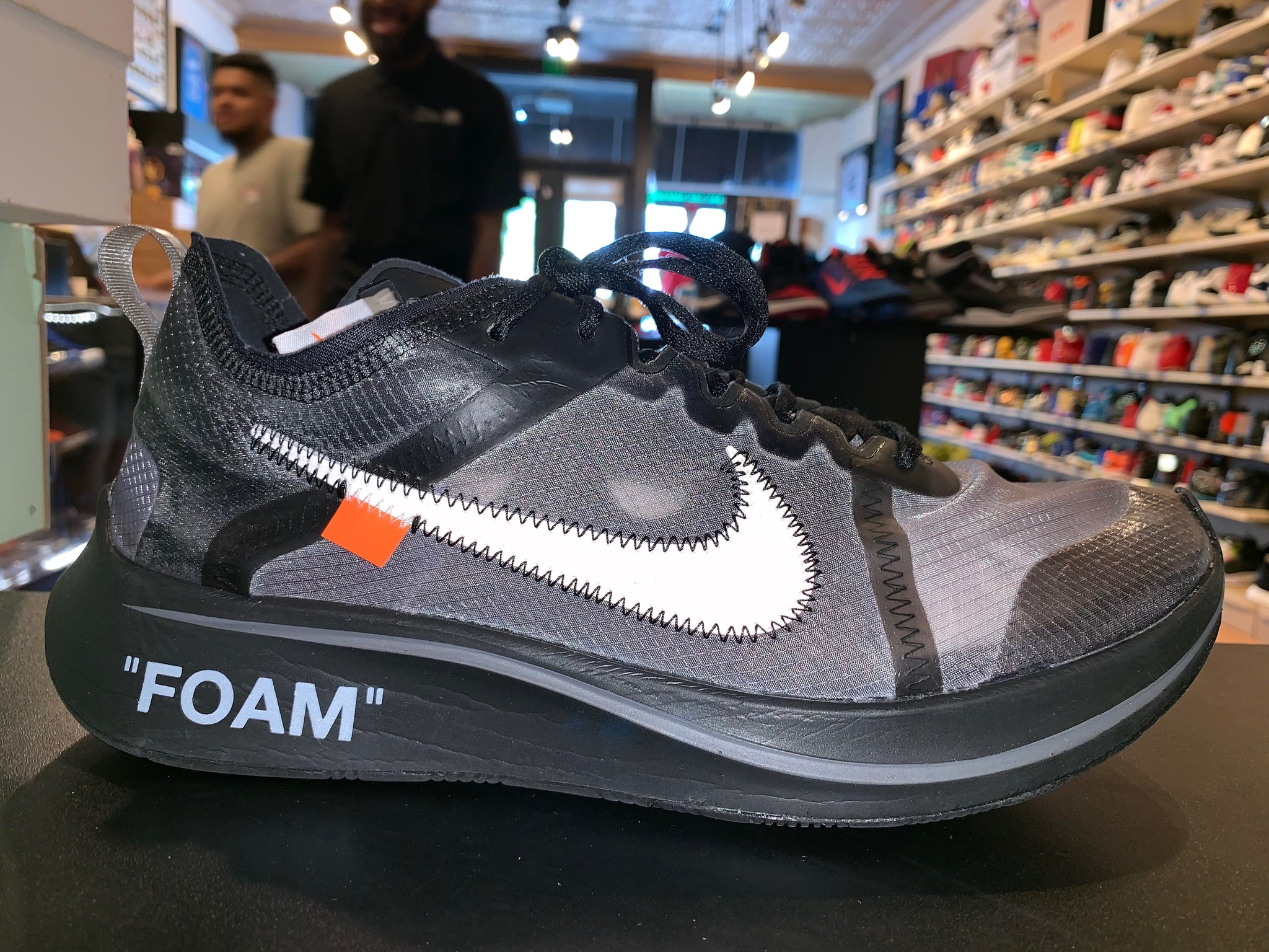 "Size 10 Nike Zoom Fly OFF-WHITE ""Black"""