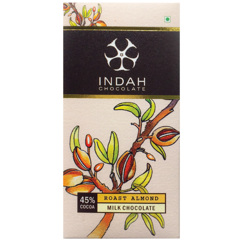 Indah Milk Chocolate - Roast Almond - Indah Chocolate
