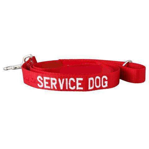 dogIDs Embroidered Service Dog Nylon Leash, 4 FT