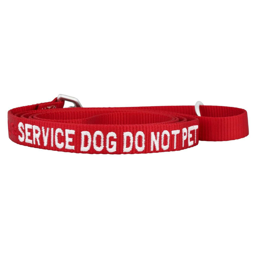 dogIDs Embroidered Service Dog Nylon Leash, 6 FT