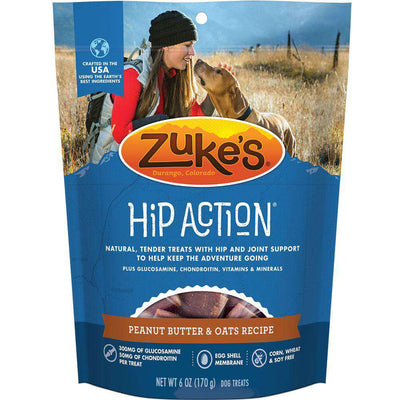 Zuke's Hip Action Peanut Butter & Oats Recipe Dog Treats