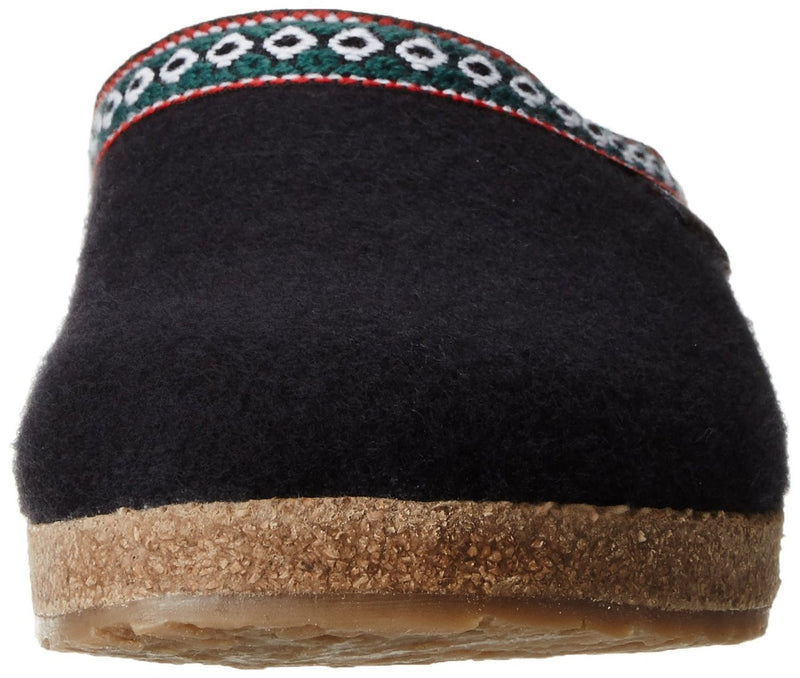 Haflinger Unisex.Classic Grizzly Slipper Black