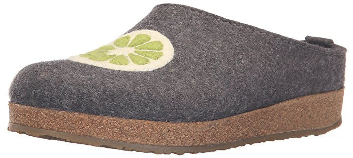 Haflinger Women's Grizzly Lemon Boiled Wool Clog