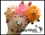 Adorable Mini Animal Puffer Balls -  Lion, Pig, Rabbit, Monkey - Sensory Fidget Toy