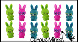 Cute Bunny Pencil Toppers - Easter Egg Filler Prize - School Supplies