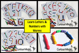 Busy Bag:  Learn Letters and Numbers with Worms!