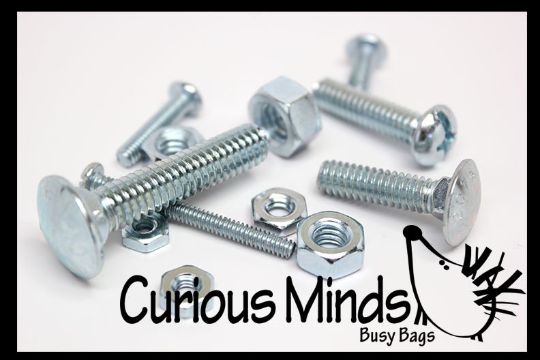 Metal Nuts and Bolts - Fine Motor Montessori Activity