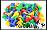 96 Piece Bag of Nuts and Bolts Toy - Jumbo Plastic Matching Fine Motor Toy