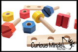 Busy Bags - Large Nuts and Bolts - Fine Motor Montessori Activity for Toddlers 18M and up