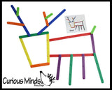 Creating Animals and Objects with Snap Together Plastic Sticks - Follow the Pattern - Learning activity