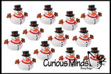 Snowman Rubber Duckies - Cute Winter Snow Man Duck Party Favors
