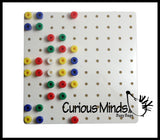 Small White Pegboard and Pegs - Fine Motor Learning Toy