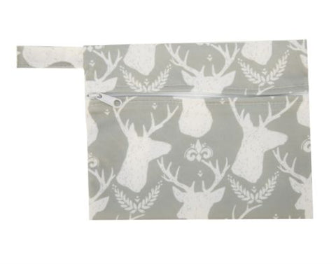 "Mini Wetbag ""Deer on Grey"""
