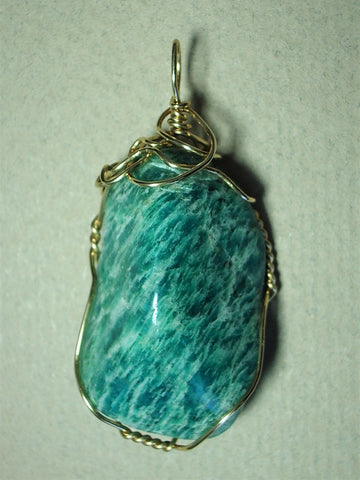 Amazonite Pendant - Wire Wrapped 14/20 Gold Filled