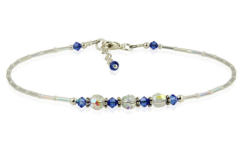 Something Beautifully Blue -- Handmade Anklets