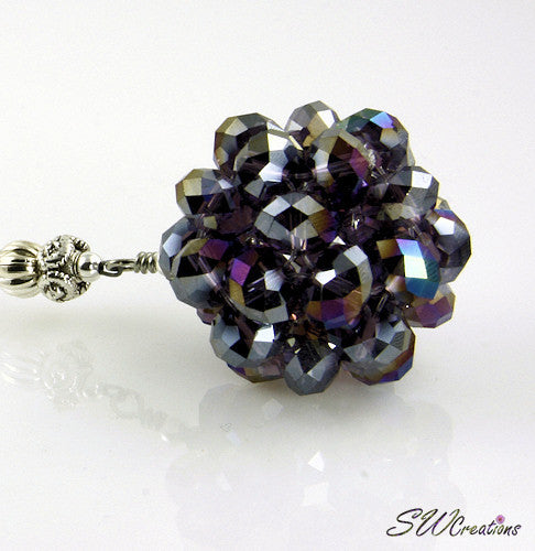 Cosmic Circle Tanzanite Purple Beaded Car Jewel - SWCreations  - 1