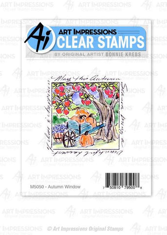 M5050 - Clear Stamp ~ Autumn Window