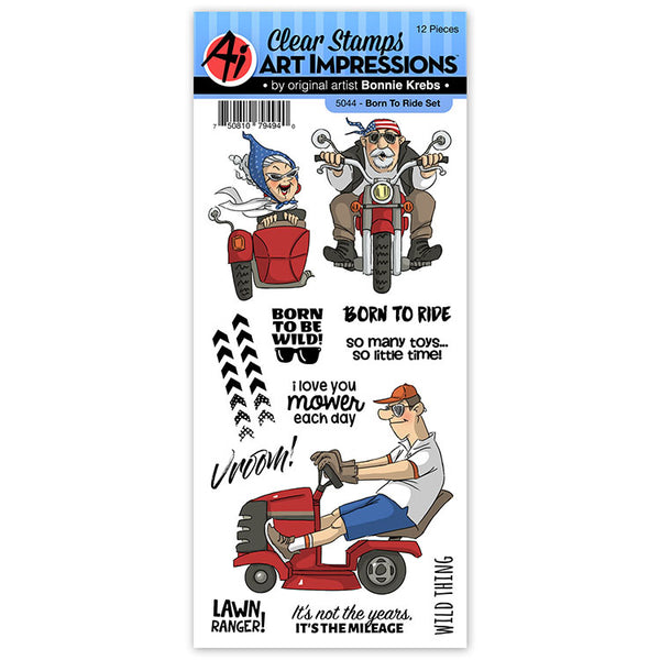5044 - Clear Stamp ~ Born to Ride Set