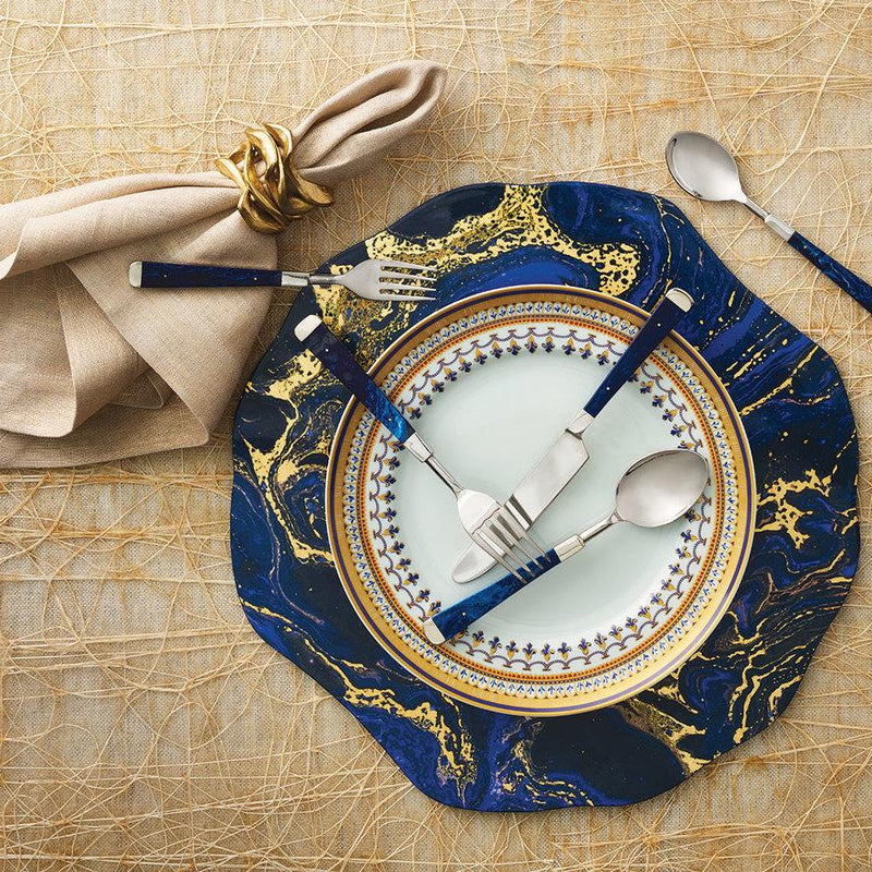 COSMOS PLACEMATS IN MIDNIGHT & GOLD