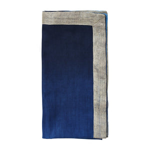 DIP DYE NAPKINS IN NAVY & SILVER