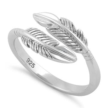 Ring| Feather-Adjustable | Sterling Silver