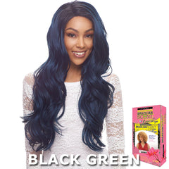 Janet Brazilian Scent Human Hair Blend Lace Front Wig - ASTIN