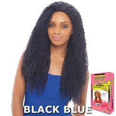 Janet Brazilian Scent Human Hair Blend Lace Front Wig - BOUNCE COIL