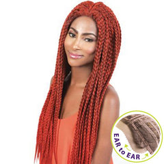 "BeShe Braid Lace Front Wig - LACE-BR - BOX BRAID (28"")"