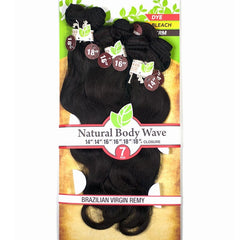 Unprocessed Naked™ Brazilian Remy Hair - NATURAL BODY WAVE 7PCS
