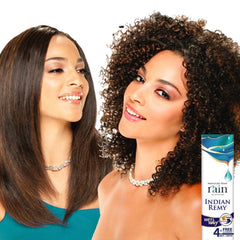 Moisture Remy Rain Indian Hair Weave - JERRY CURL 4 PCS (Wet & Wavy)