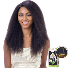 "Naked Unprocessed Hair ""L""-Part Lace Front Wig - NATURAL 201"