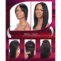 Sensationnel 100% Human Hair - YAKI CLIP-IN WEAVES 12""