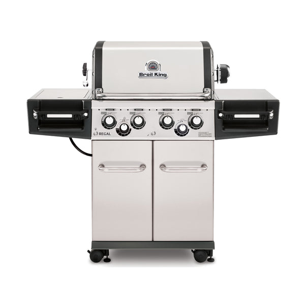 Broil King Regal S490 PRO Stainless Steel Gas Barbecue WIth Side Burner & Rotisserie