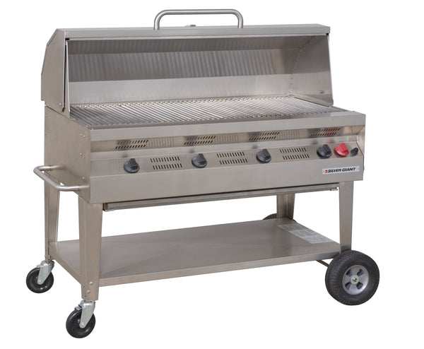 "Silver Giant 48"" Commercial Barbecue – Natural Gas"