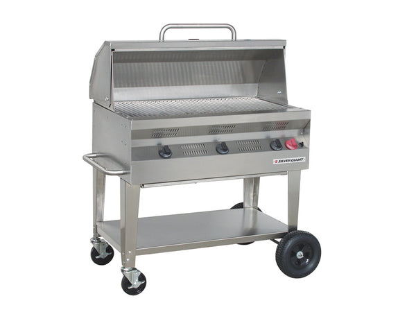 "Silver Giant 36"" Commercial Barbecue – Natural Gas"