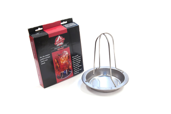 Brander Beer Can Chicken Roaster with Drip Pan - With Packaging