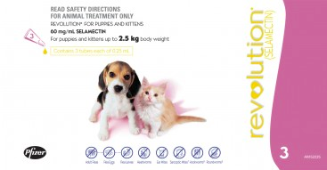Revolution for Puppies and Kittens: under 2.5 kg