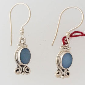 Blue Lace Small Sterling Silver Earrings