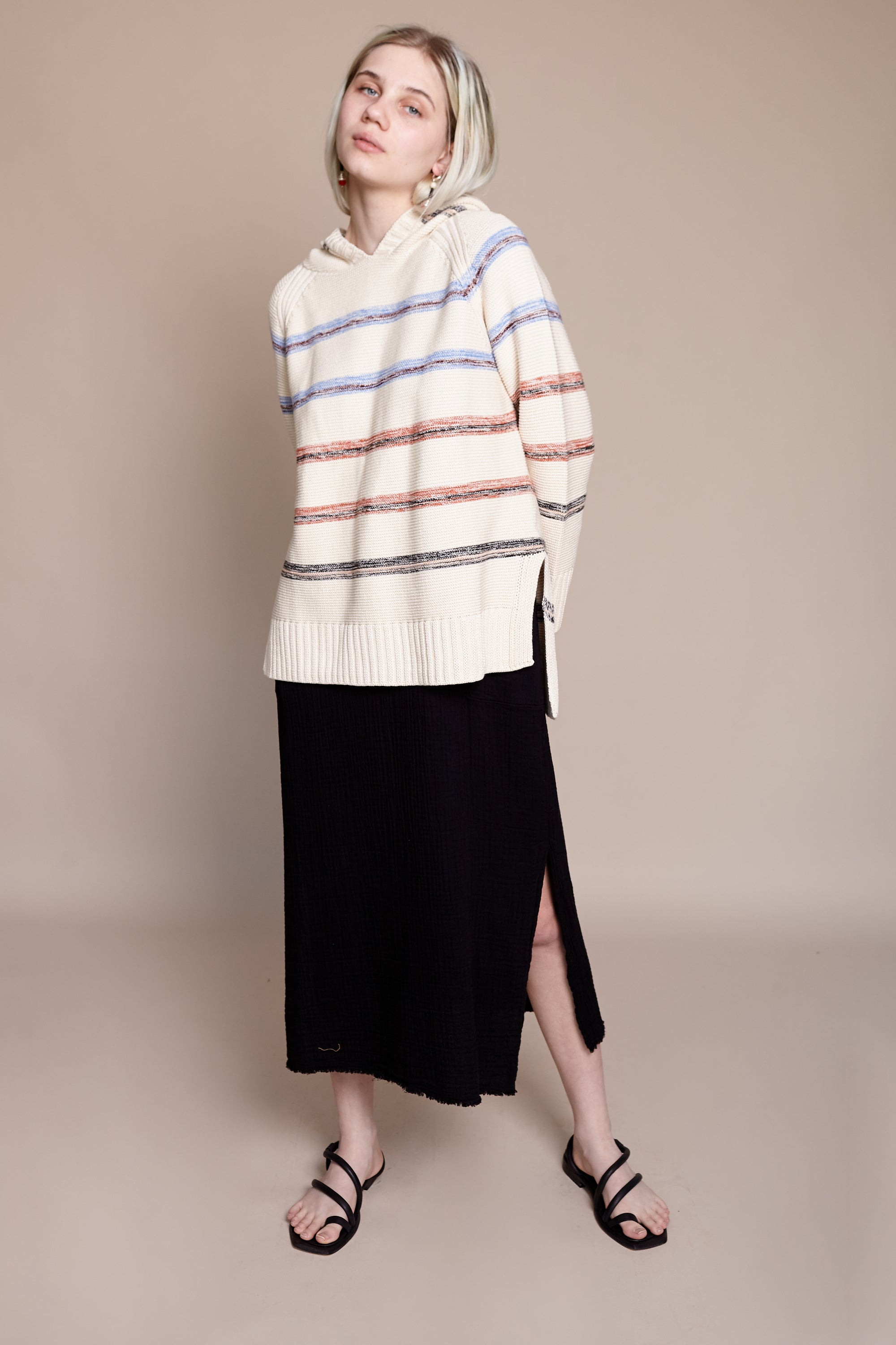 Apiece Apart Baja Hoody in Light Stripe - Vert & Vogue