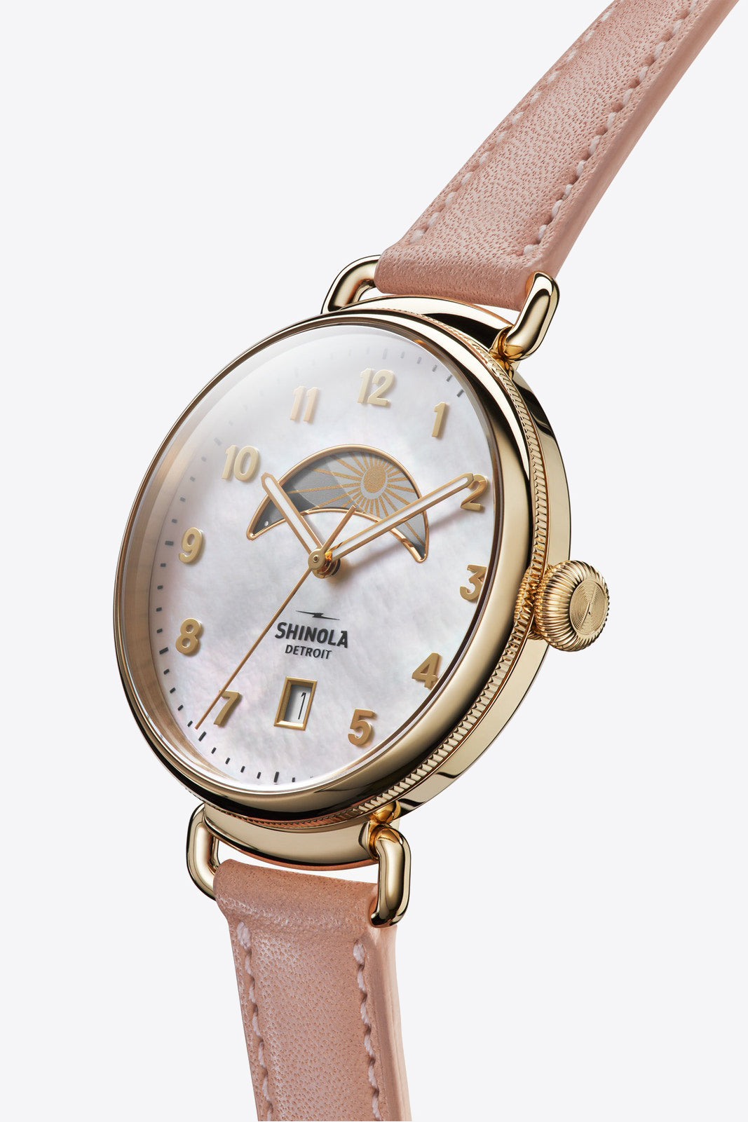 Shinola Canfield 38mm Watch in Rose - Vert & Vogue