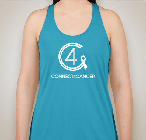 Connect4Cancer SuperGirl Tank tops teal tank top - SOLD OUT