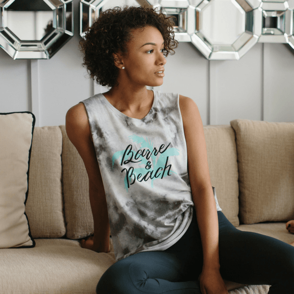 Barre and beach tank
