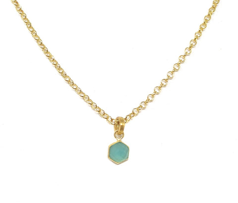 Aziza  Quartz Stone Hex Necklace - 3 Colors