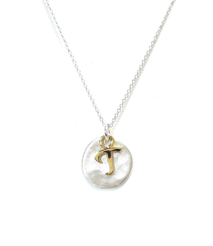 Kevin N Anna T Initial Necklace