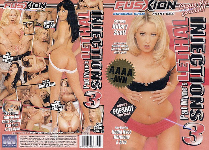 Lethal Injections #3 -  Fusxion Adult XXX Sealed DVD