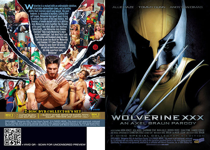 Wolverine XXX - Vivid Sealed DVD