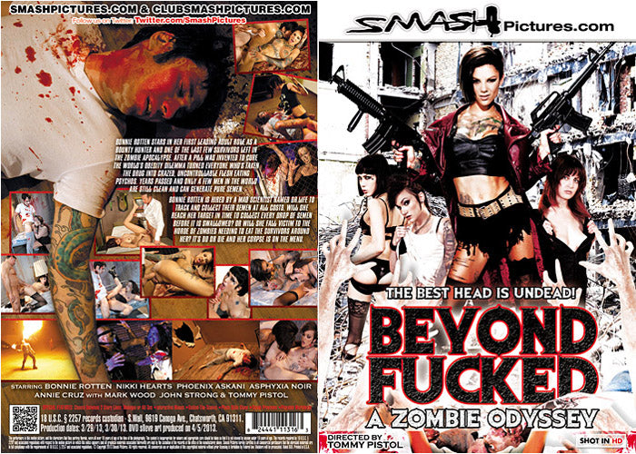 Beyond Fucked, zombies (bonnie rotten) Smash Pictures Sealed DVD