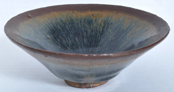 "Antique Chinese Song Dynasty ""Hare's Fur"" Jian Temmoku Bowl, Circa 12th Century"