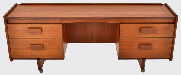 Mid-Century Modern Danish Style Desk in Teak by White & Newton Ltd., 1960s