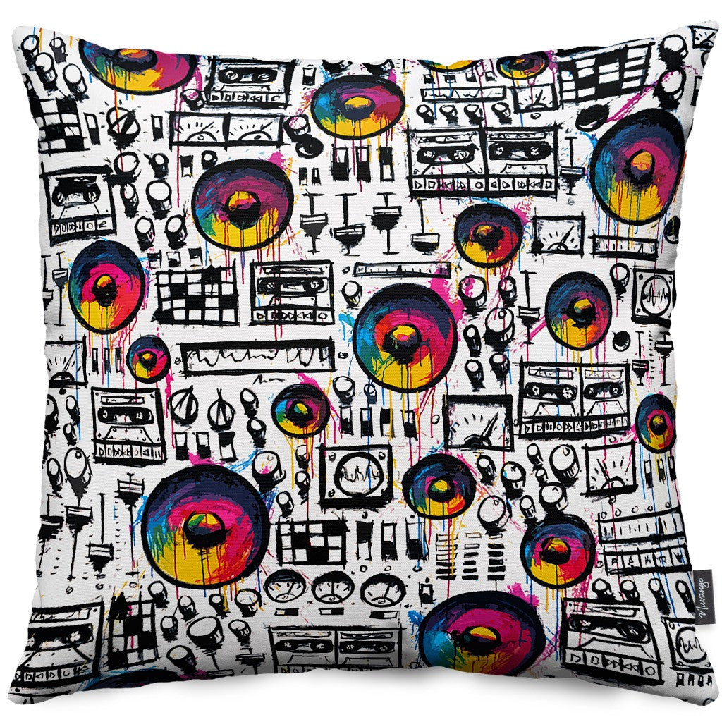 Speaker Wall Throw Pillow